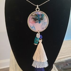 Jewelry - Handpainted watercolor pendent